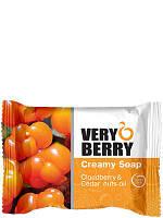 """VERY BERRY"" Creamy Soap  Cloudberry & Cedar nuts oil/ Крем-мыло  «Морошка и масло кедровых орехов»"