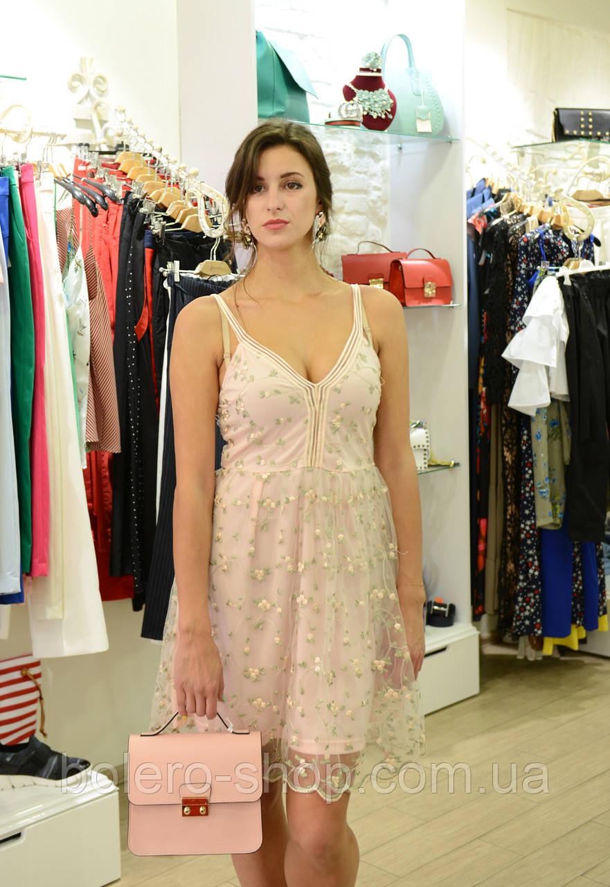 Брендовое женское платье  розовое Италия