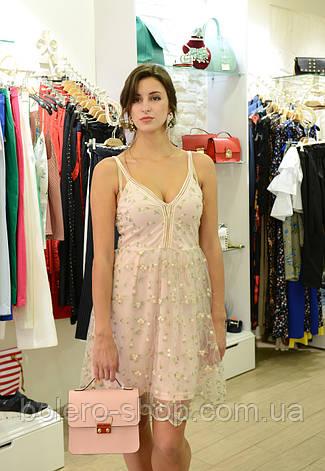 Брендовое женское платье  розовое Италия, фото 2