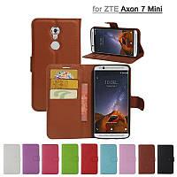 Кожаный чехол книжка Lichee на ZTE Axon 7 Mini (9 цветов)