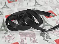 Косая бейка атласная 1,5см. черная