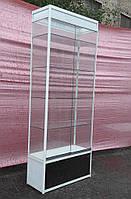 Торговая витрина стеклянная с алюминиевого профиля 250х100х40 бу, фото 1