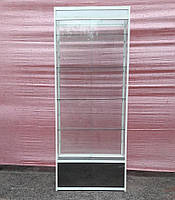 Торговая витрина стеклянная с алюминиевого профиля 220х100х40 б/у