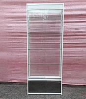 Торговая витрина стеклянная с алюминиевого профиля 220х100х40 б/у, фото 1