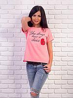 Женская футболка с надписями p.42-48 VM1986-1