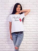 Женская футболка с надписями p.42-48 VM1986-2