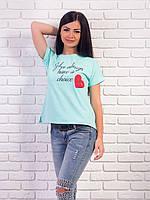 Женская футболка с надписями p.42-48 VM1986-3