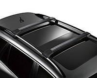 Багажник Фольцваген Поло / Volkswagen CrossPolo 2006- черный на рейлинги
