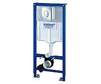 Grohe Rapid SL комплект для подвесного унитаза (бачек, крепеж, кнопка хром - двойн. слив)38721001