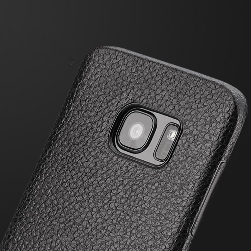 Прорезиненный чехол под кожу для Samsung Galaxy S7 G930