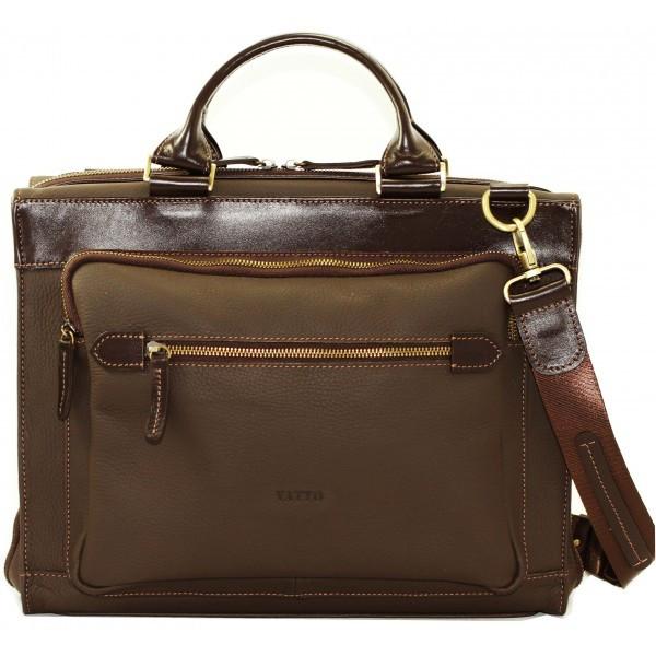 Кожаная мужская сумка Mk64 коричневая