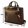 Кожаная мужская сумка Mk64 коричневая, фото 3