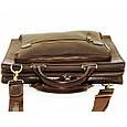Кожаная мужская сумка Mk64 коричневая, фото 7