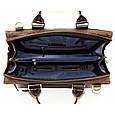 Кожаная мужская сумка Mk64 коричневая, фото 5