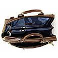 Кожаная мужская сумка Mk64 коричневая, фото 6