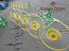 Грабли ворошилка Cолнышко на 5 колес