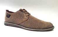 Мужские туфли-мокасины летние кожаные цвет: оливка, черный 0452УКМ