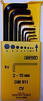 Набор шестигранных штифтовых гаечных ключей Kraftixx 2 - 10 мм, 8 шт.