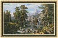 Набор для вышивки крестиком Озеро в горах