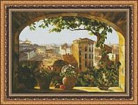 Набор для вышивки крестиком Окно в Рим