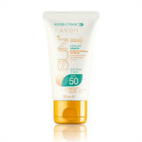 Солнцезащитный увлажняющий лосьон для лица и тела «Нежный защита» SPF 50, Avon, Эйвон, Ейвон, 50 мл.