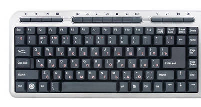 Клавиатура SVEN Standard 309M USB silver, фото 2