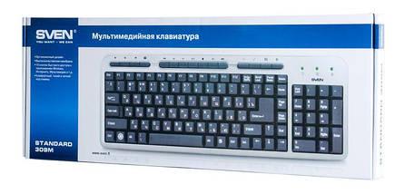 Клавиатура SVEN Standard 309M USB silver, фото 3