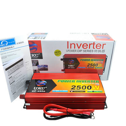 Преобразователь авто инвертор UKC 12V-220V 2500W, фото 2