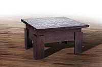 Стол-трансформер обеденный МИКС-мебель Дельта Венге стекло