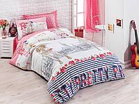 Постельное белье Eponj Home Pretty розовое полуторного размера
