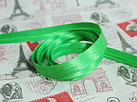 Косая бейка атласная 1,5см. зеленая