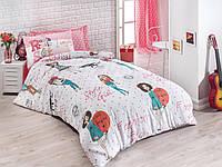 Постельное белье Eponj Home Fashion Girl розовое полуторного размера