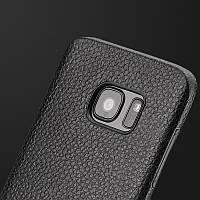 Прорезиненный чехол под кожу для Samsung Galaxy S7 Edge G935, фото 1