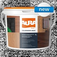 Aura ColorWood Aqua 9л - Декоративно-защитное средство для древесины