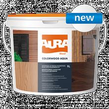 Aura ColorWood Aqua 9л - Декоративно-захисний засіб для деревини