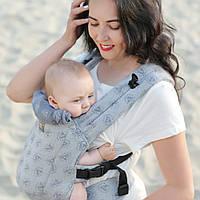 Эрго-рюкзак Love&carry Dlight Диаманты из шарфовой ткани (жаккард) серый