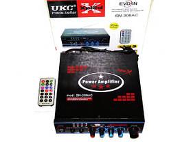 Усилитель звука UKC SN-308AC USB+SD+MP3 караоке, фото 2