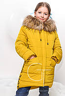 Детская зимняя куртка на молнии на девочку
