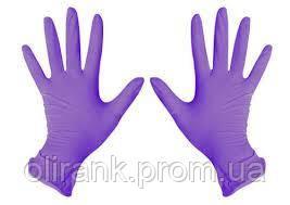 Перчатки НИТРИЛ  М 200шт(10) (фиолетовые )