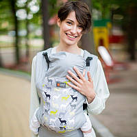 Эрго-рюкзак Love&carry Dlight Форест серый