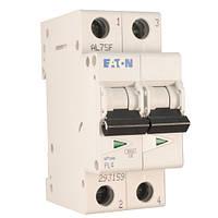 Выключатель автоматический 2П, 6А, характеристика С, Eaton PL-4 C6/2