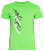 Футболка Cannondale диагональная надпись, зелёная, размер L