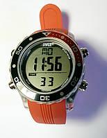 Часы для подводной охоты Pyle; красный ремешок; чёрно-красный ободок