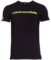 Футболка Cannondale с горизонтальным  двухцветным логотипом, черная, размер L