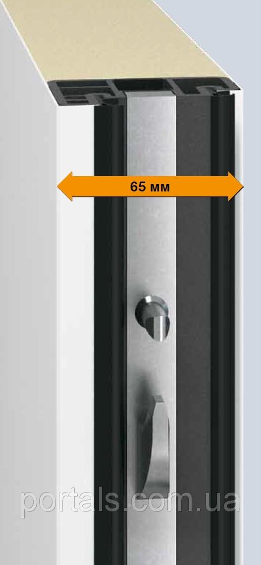 Хорошо утеплённая створка двери толщиной 65мм