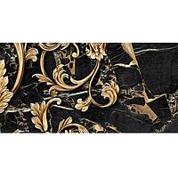 Декор №4 керамический  для стен  Saint Laurent (30*60) черный