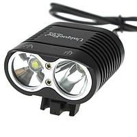 Велофара / налобный фонарь UniqueFire HD-016 (2 x XM-L2 / ближний + дальний / 1800 Лм / 8.4 В)