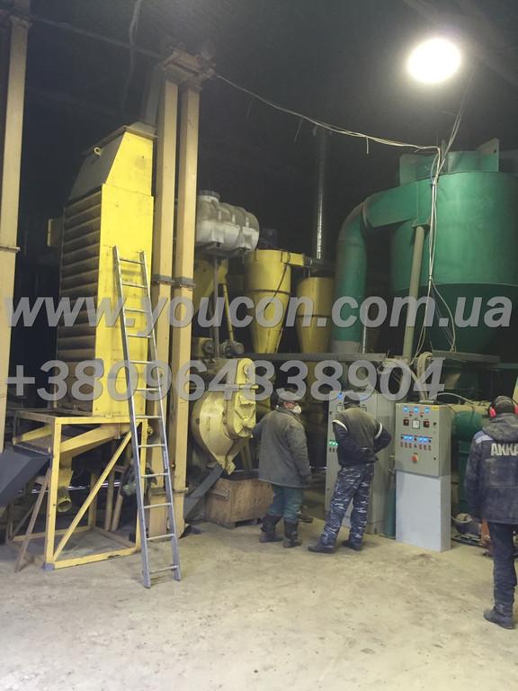 Линия гранулирования древесного сырья от 800 кг\час (опилка и щепа)