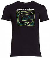 "Футболка Cannondale с большим логотипом ""С"", чёрная, размер M"
