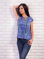 Женская футболка со шнуровкой p.42-48 VM1953-3